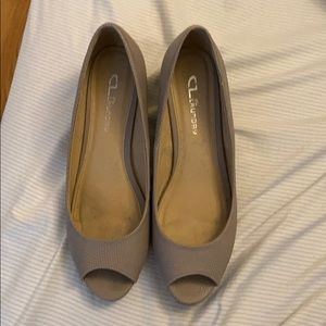 CL by Laundry open toe wedge